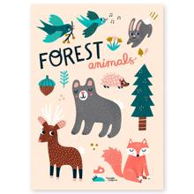 michelle-carlslund-plakat-poster-forest-animals-interior-wall-decor-vaegdekoration-MC424