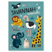 michelle-carlslund-plakat-poster-wallposter-vaegplakat-savannah-animals-savannedyr-dyr-walldecor-vaegdekoration-interior-MC426