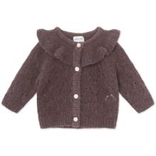 Mini A Ture Diann Rabbit Plum Cardigan