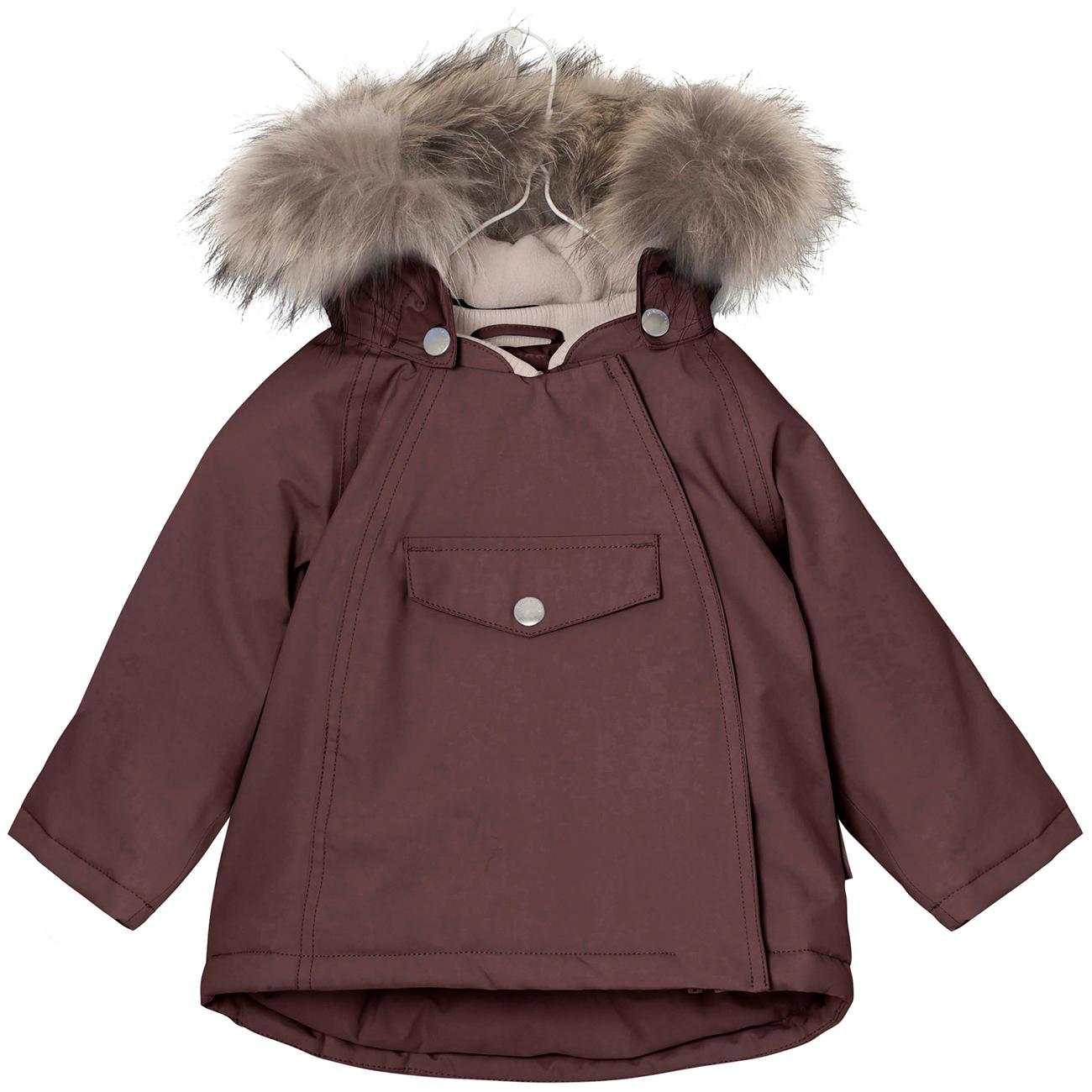 437024c8 Mini A Ture Wang Fur Vinterjakke Deep Mahogany