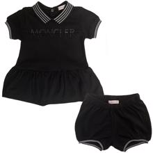 Moncler Completo T-shirt + Bloomers Set Black