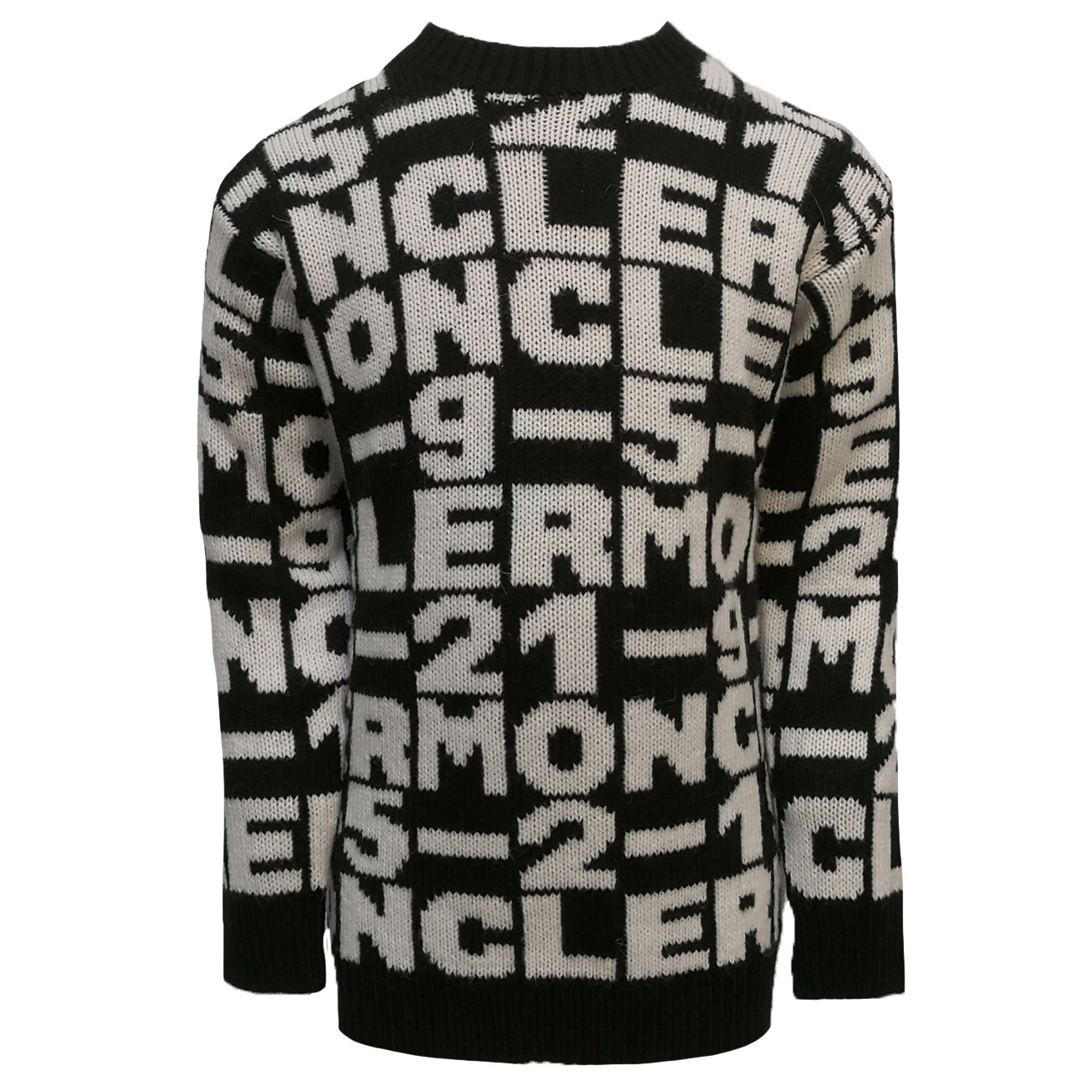moncler-strik-kjole-dress-knit-black