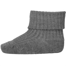MP 589 Wool Socks Rib 491 Grey Marl.