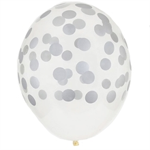 My Little Day Dot Silver Ballon 5 Stk.