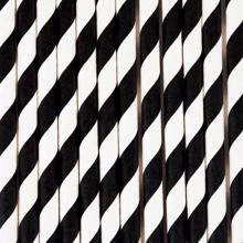 my-little-day-sugeroer-straws-black-white-sort-hvid