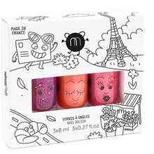 Nailmatic Neglelak Vandbaseret 3 Pack City 3 Kitty/Dori/Sheepy