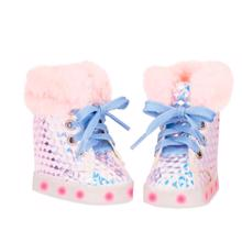 our-generation-boots-light-sole-fake-fur-white-737462