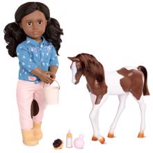 our-generation-dukke-med-foel-doll-with-foal-daveen-731296