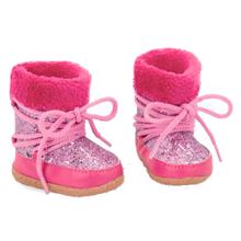 our-genration-stoevler-boots-pink-fake-fur-glitter-glimmer-737419