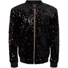 sofie-schnoor-bomber-jakke-jacket-black-sort-sequins-palietter-zipper-lynlaas