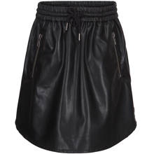 petit-by-sofie-schnoor-nederdel-skirt-pvc-fake-skind-black-sort