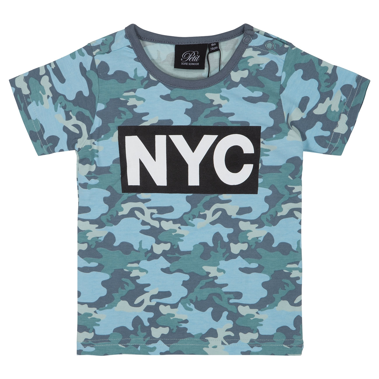 7c929530896 Petit by Sofie Schnoor Middle Blue Camo T-shirt