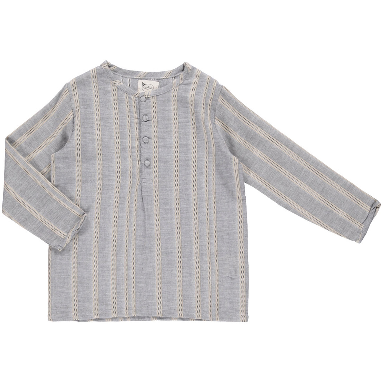 pierrot-la-lune-liam-shirt-skjorte-grey-woven-stripes
