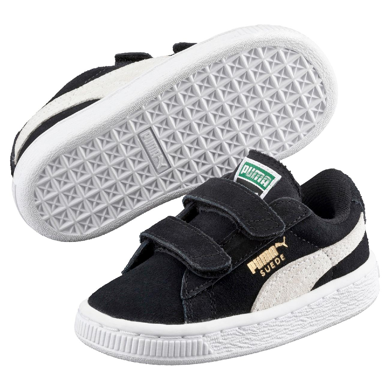 1bb13cd9f64 Puma Sneakers Suede 2 Straps Black/White Inf