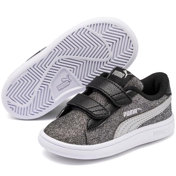 Puma Smash sneaker glitz glam black silver