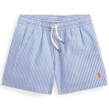 Polo Ralph Lauren Boy Traveler Swim Wear Boxer Cruise Royal Seersucker