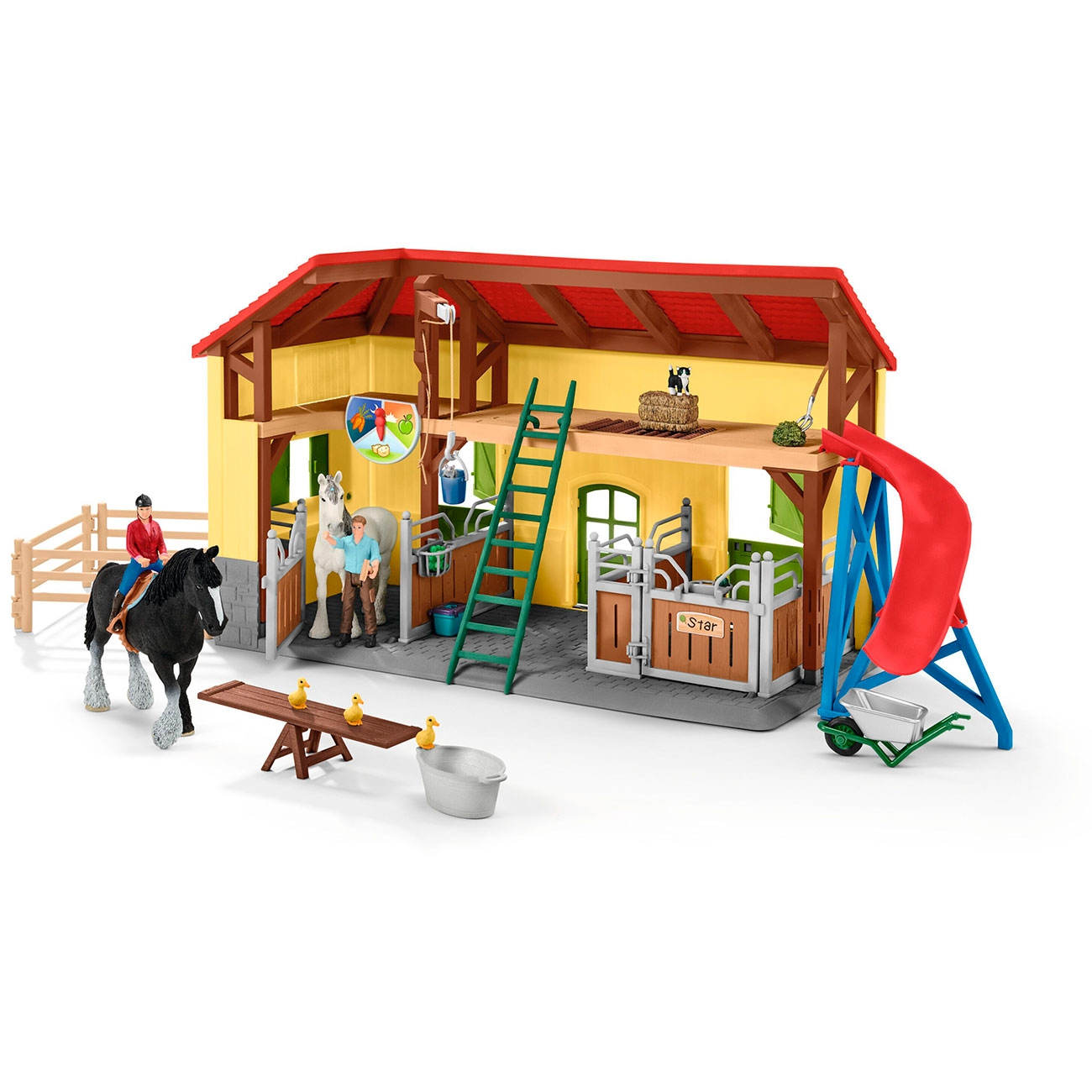 schleich-farm-world-horse-stable-hestestald-leg-toys-play-42485-1