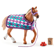 Schleich Horse Club English Thoroughbred with Blanket