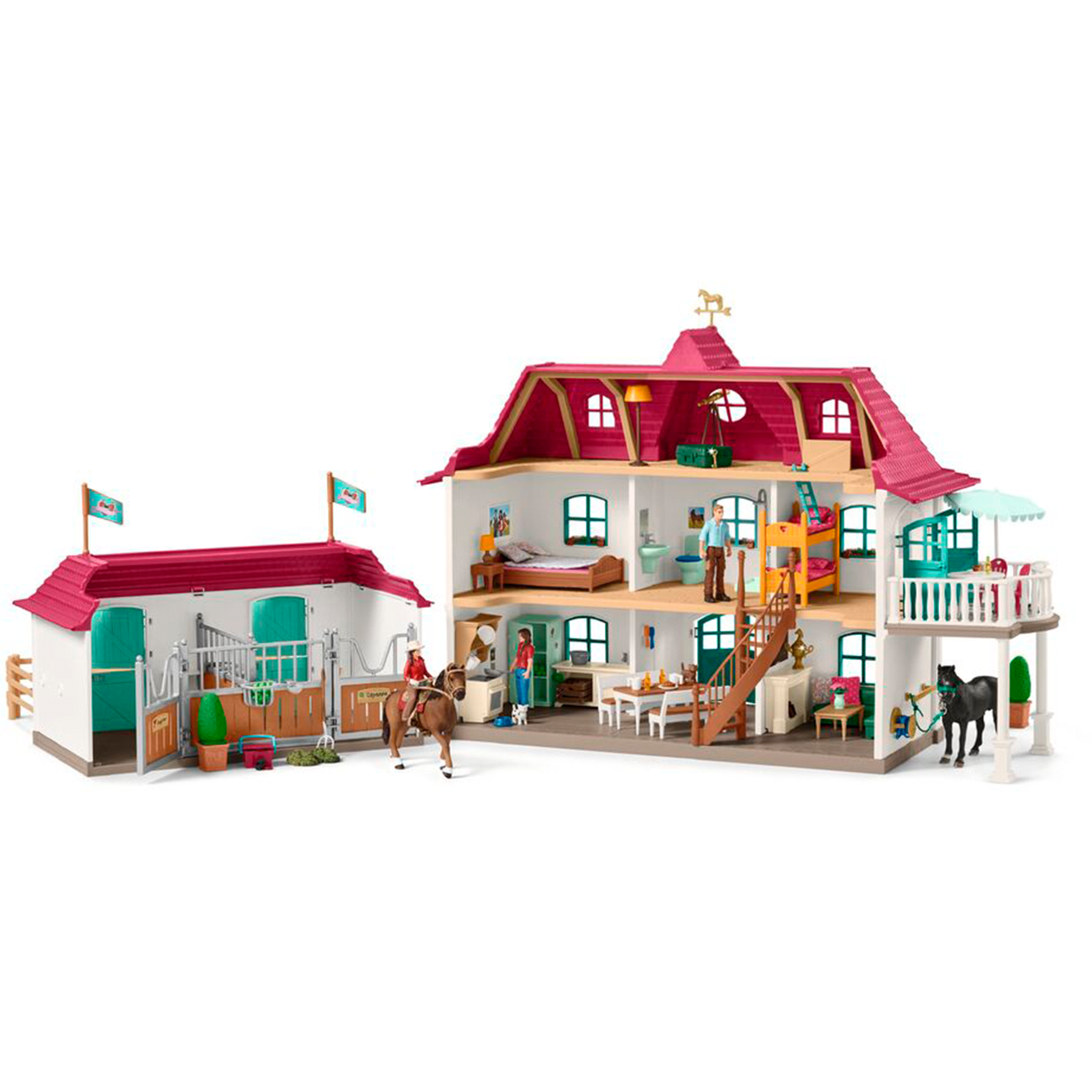 Schleich Horse Club Large House Stable with House and Stable