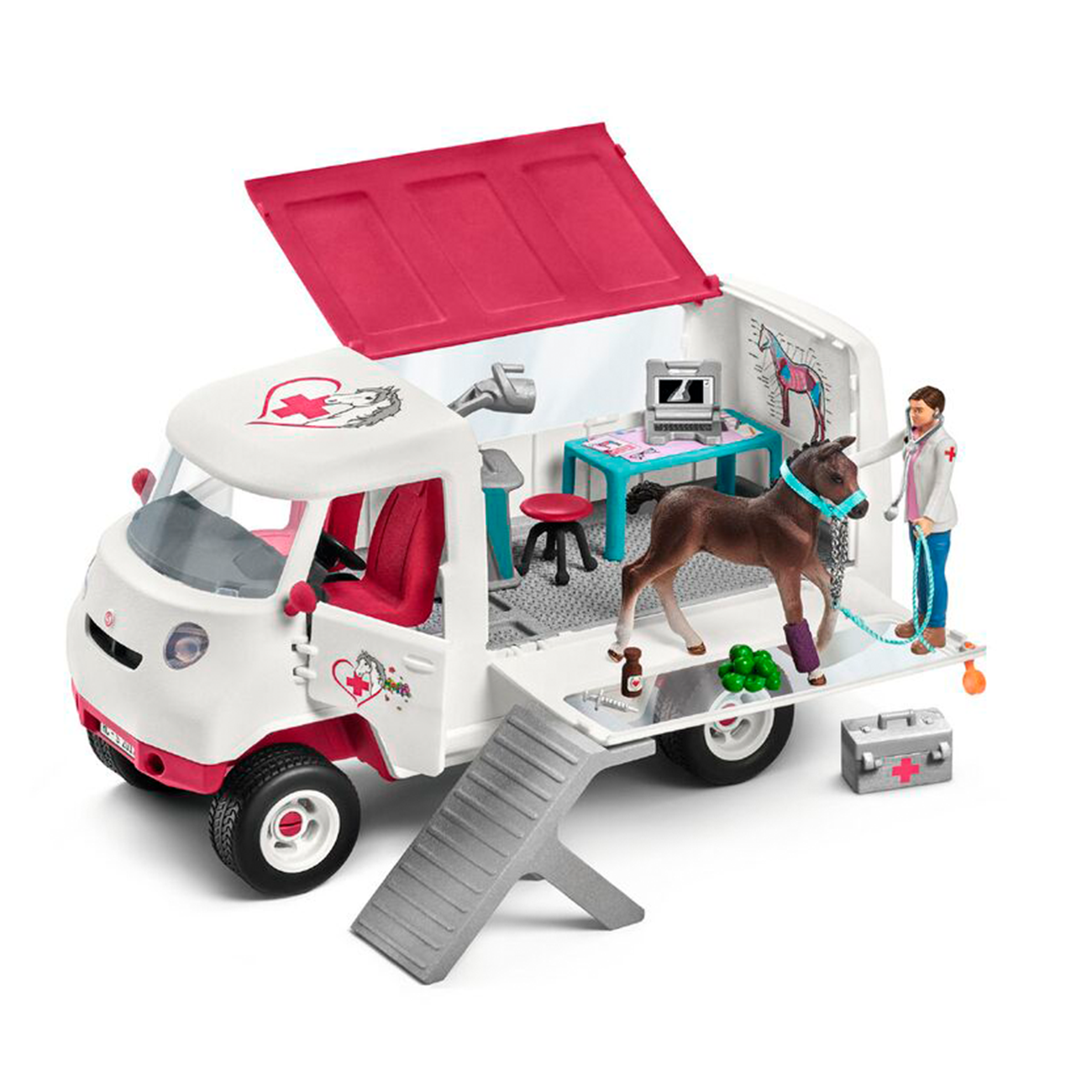 Schleich Horse Club Mobile Vet with Hanoverian Foal