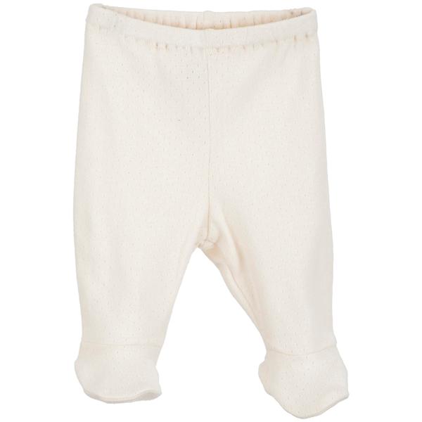 Serendipity Baby Pre Pants W. Feet Offwhite