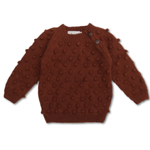 shirley-bredal-strik-knit-uld-wool-bubble-sweater-rust