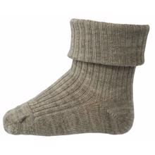 MP 589 Wool Socks Rib 202 Light Brown Melange