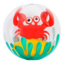 sunnylife-beachball-badebold-crabby-krabbe-3D-tredimensionel-bade-vandleg-play-strand-beach-leg-toys-fun