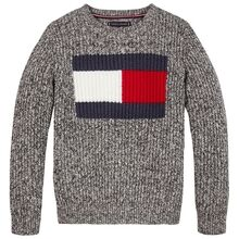 tommy-hilfiger-flag-logo-sweater-black-sort-kb0kb06073-bds-1