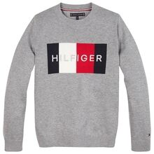 Tommy Hilfiger Logo Sweater Mid Grey Heather