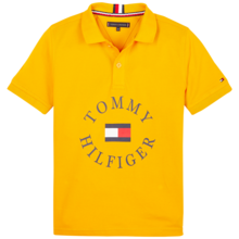 Tommy Hilfiger Boy Yellow Graphic Polo SS Radiant