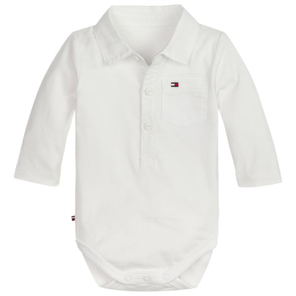 Tommy Hilfiger Baby Boy Poplin Collar L S Body Bright White 03b01545de7d8