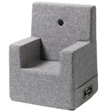 By KlipKlap KK Kids Chair XL Multi Grey w Grey Buttons